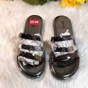 Michael Kors Silver Sandals 8M